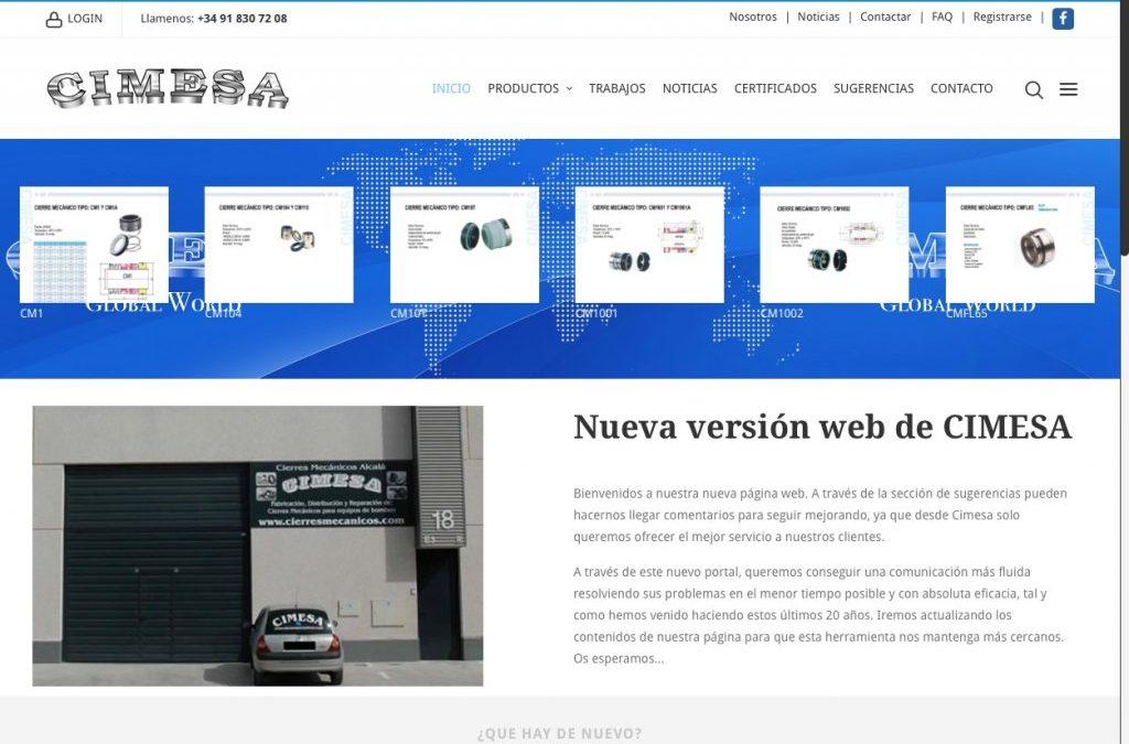 Nueva web desarrollada en HTML5 para CIMESA