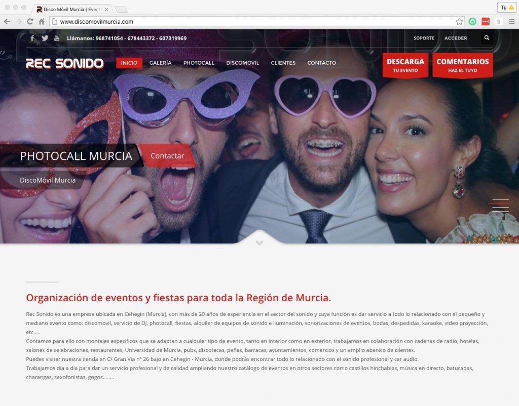 Nueva web para discomovilmurcia.com