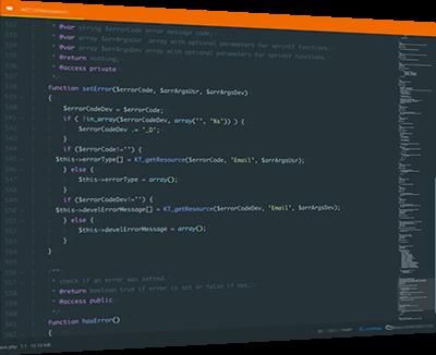 ventana codigo fuente desarrollo left