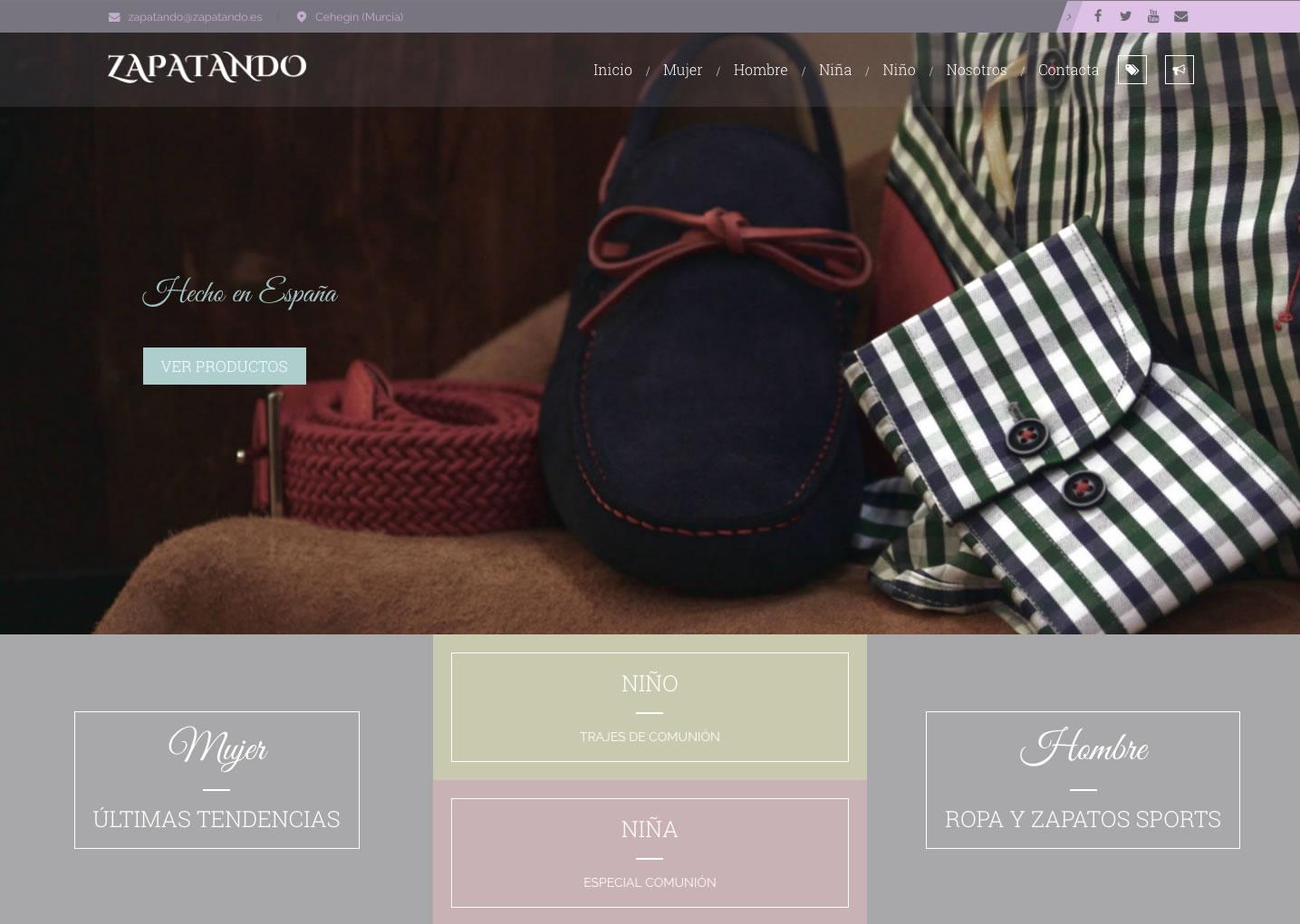 Nuevo desarrollo web para la empresa de moda Zapatando
