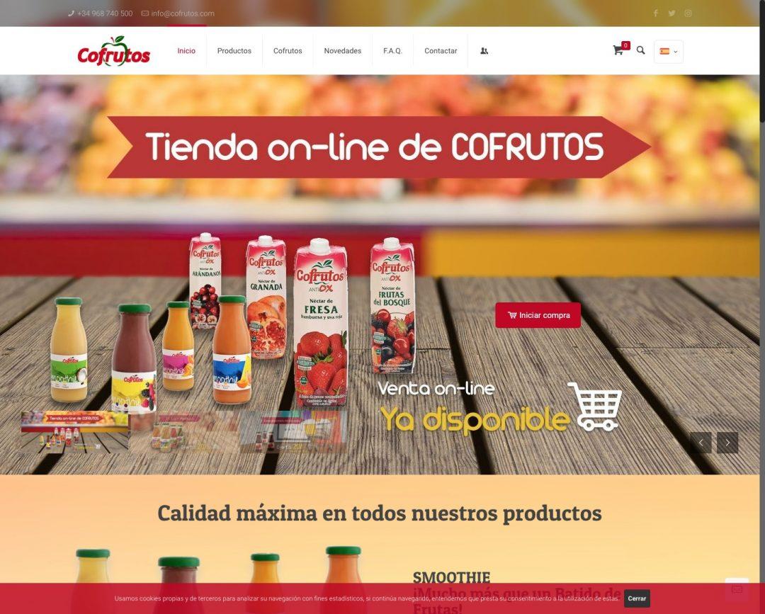 Cofrutos desarrollo de tienda virtual y catálogo de productos por Diseño Web Dagarweb