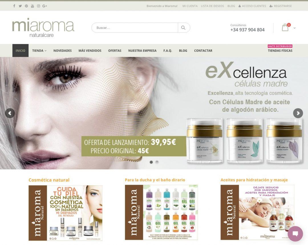 Diseño web de miaroma.net